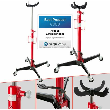"""main image of """"AREBOS Vertical Telescopic Car Transmission Jack 500Kg Hydraulic Motor Gearbox Lift 0.5 - Red"""""""