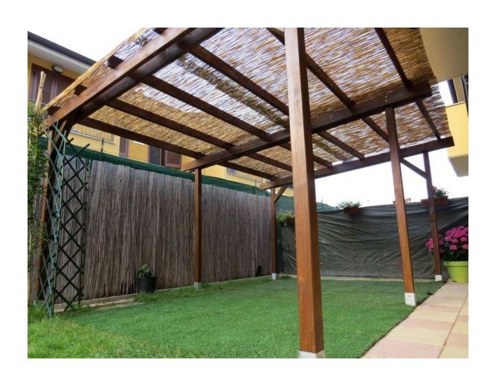 Arella In Bamboo Canniccio Arelle Canne Per Copertura Ombra Bambu Alt 3mt X 5l 253649670678