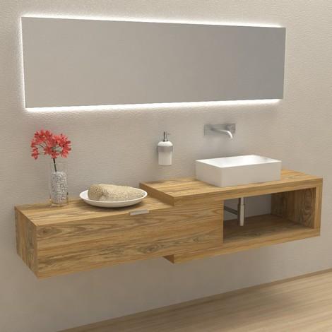 arena 100 in legno massello mobile completo arredo bagno