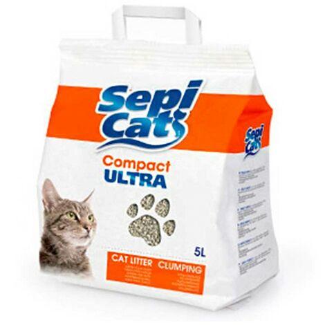 Arena para gatos 5 litros | Arena absorbente Sepicat Compact Ultra | Arena absorbente para mascotas
