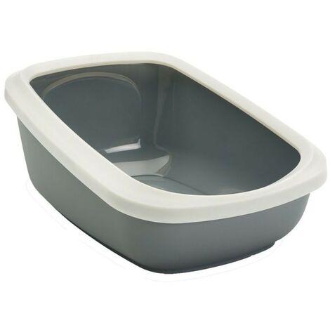 Arenero con marco para gatos Aseo Jumbo | Bandeja de arena grande | Caja de arena WC para gatos