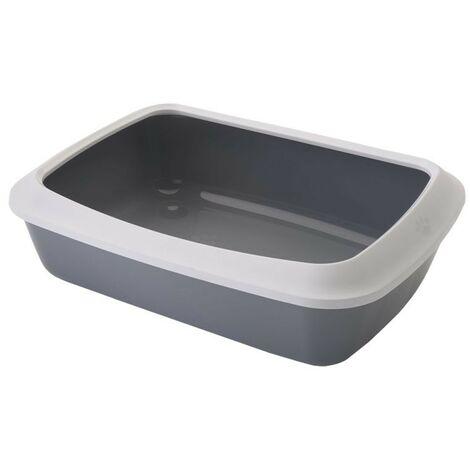 Arenero con marco para gatos Iriz | Bandeja de arena 50 cms | Caja de arena WC para gatos