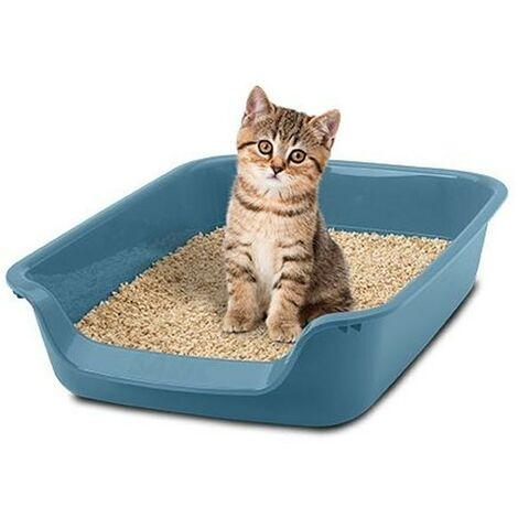 Arenero para gatitos Junior | Bandeja de arena con entrada baja | Caja de arena WC para gatitos