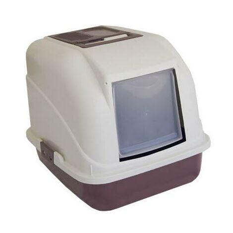 Arenero para gatos cerrado con filtro de carbono y paleta recogedora medidas 50 x 40 x 40 cm