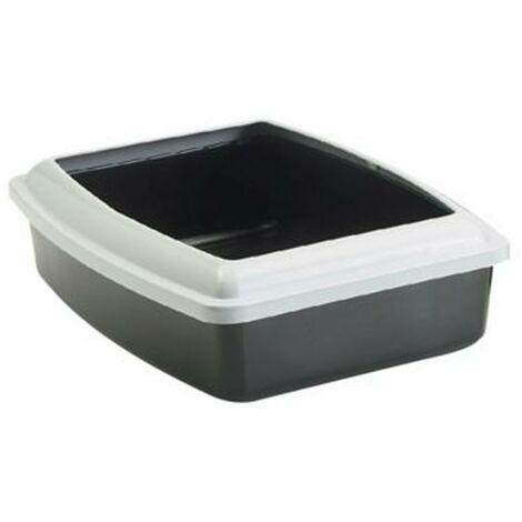 Arenero para gatos oval Jumbo | Bandeja de arena grande | Caja de arena WC para gatos