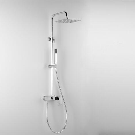 - ARES - Colonne de douche ARGO, avec tête de douche carré 20x20 cm et douchette à main (code 89112)