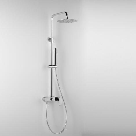 - ARES - Colonne de douche ARGO, avec tête de douche ronde Ø 20 cm et douchette à main (code 89111)