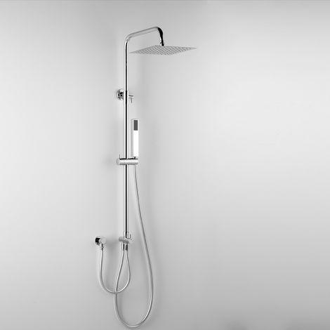 - ARES - Colonne de douche EROS, avec tête de douche carré 20x20 cm et douchette à main (code 89122)
