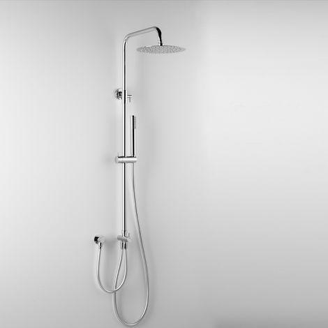 - ARES - Colonne de douche EROS, avec tête de douche ronde Ø 20 cm et douchette à main (code 89121)