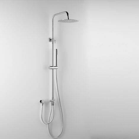 - ARES - Colonne de douche EROS, avec tête de douche ronde Ø 25 cm et douchette à main (code 89123)