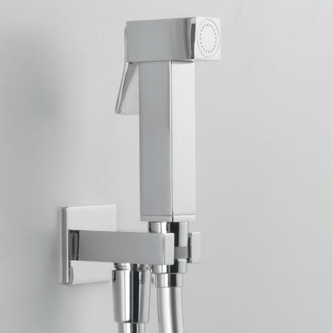 ARES-Douchette Hygiène WC dans une finition chromée et d'un design contemporain. (code 74810)