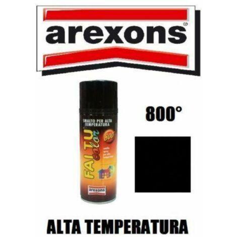 Arexons vernice spray nero opaco alte temperature 600° marmitte motore stufe