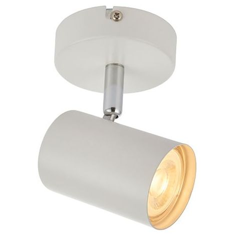 Arezzo Matt White Paint 1 Light Ceiling And Wall Spot 7W Home Lighting