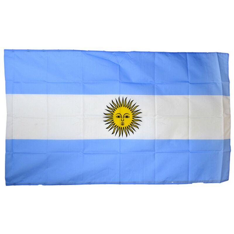 Image of National Flag (5ft X 3ft) (One Size) (Blue/White) - Argentina