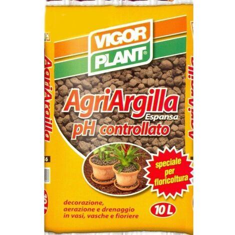 3 pezzi ARGILLA ESPANSA  10 LT PER PIANTE DRENAGGIO GIARDINAGGIO ISOLAMENTO