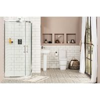 Aria 1200mm Offset Quadrant RH Shower Enclosure Suite with Easy Clean Glass