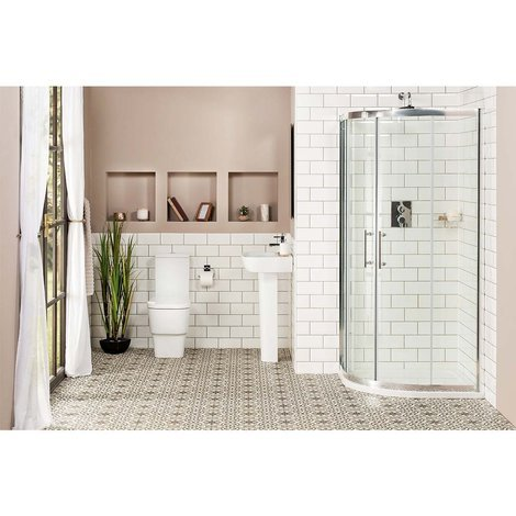 Aria 900mm Quadrant Shower Enclosure Suite with Easy Clean Glass