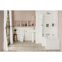 Aria Bathroom Suite with Left Hand L Shape Shower Bath