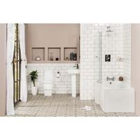 Aria Bathroom Suite with Left Hand P Shape Shower Bath