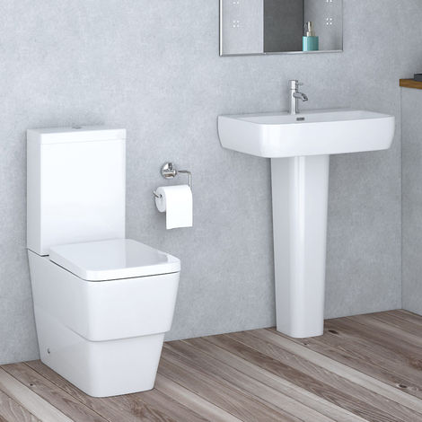 Aria Close Coupled Toilet & Basin Cloakroom Suite