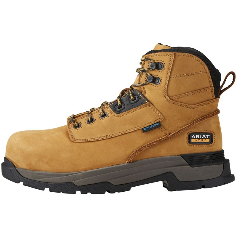 Image of Ariat Mens Leather Mastergrip 6 H2O Safety Boot (8.5 UK) (Wheat)