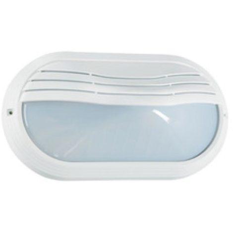 aric 2202 | aric2202 - ovo 270tp - hublot extérieur ip65 ik10, ovale, blanc, e27 40w max., lampe non fournie
