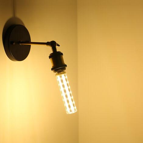 ARILUX E27 E14 B22 Bombillas LED 15 W 5730SMD Sin LED Strobe Bombillas de maíz Lámpara súper brillante T10 Bombilla tubular de repuesto AC85-265V (Blanco cálido, 3500K E14)