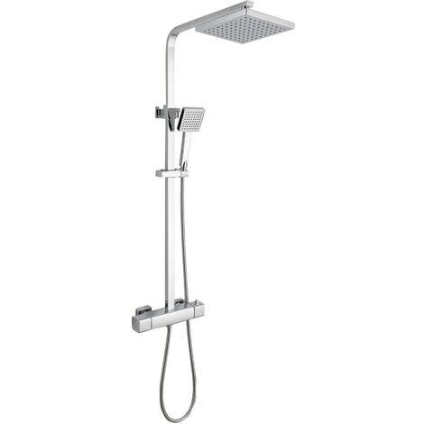 Arizona Chrome Cool Touch Thermostatic Mixer Shower & Adjustable Rigid Riser Rail Kit