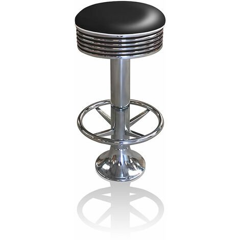 Arizona Quality Retro Fixed Floor Swivel Barstool With Footring Fifties Style Kitchen Restaurant Bar Stool Fully Assembled