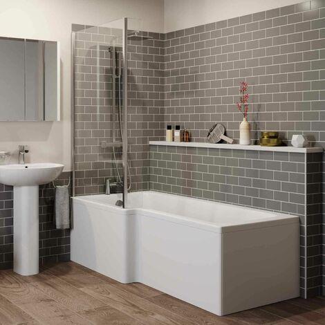 "main image of ""Arles Bathroom Suite - L Shaped Shower Bath - Left Hand"""