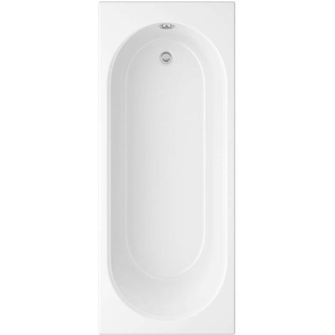 Arley Cascade 1600mm No Tap Holes Standard Single Ended Bath - size 1600 x 700mm - color White