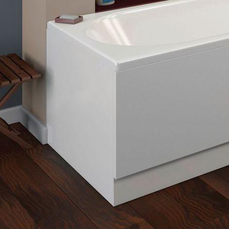 "main image of ""Arley Halite 750mm White Gloss End Bath Panel - size 750mm - color Gloss White"""