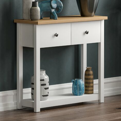 Arlington 2 Drawer Console Table, White