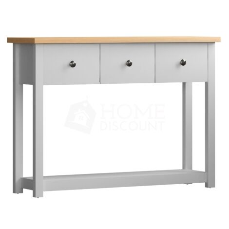 Arlington 3 Drawer Console Table, White