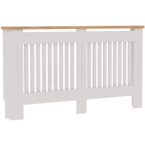 Arlington Radiator Cover, White, Large