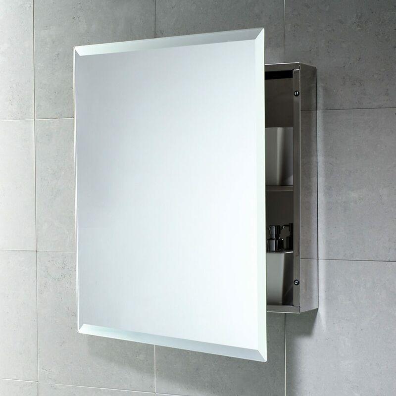 Specchio Bagno Contenitore.Armadietto Contenitore Con Specchio Per Bagno In Acciaio Inox 02080000000302