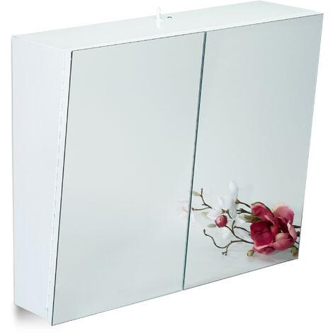 Specchio Bagno 60 X 60.Armadietto Da Bagno A Specchio 2 Ante Mobiletto Pensile Presa