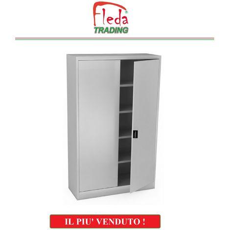 Armadio Ufficio Metallo.Armadio Armadietto In Metallo Ufficio Per Archiviazione Ad Ante Battenti Dim 100x45x200