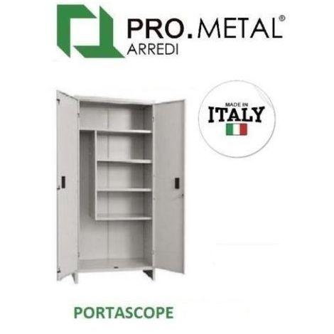 Armadio In Ferro Verniciato.Armadio Armadietto Portascope Pratiko 80x40x180h Pro Metallo Verniciato 2 Ante 253386730467