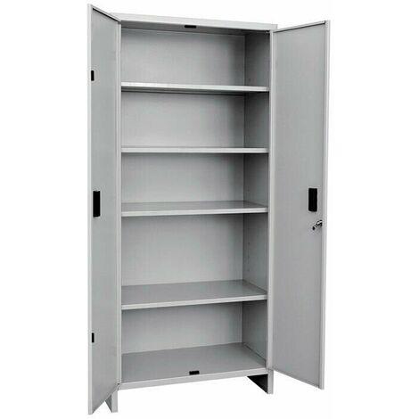 """main image of """"Armadio da ufficio tutto piani in metallo con 4 ripiani e serratura"""""""