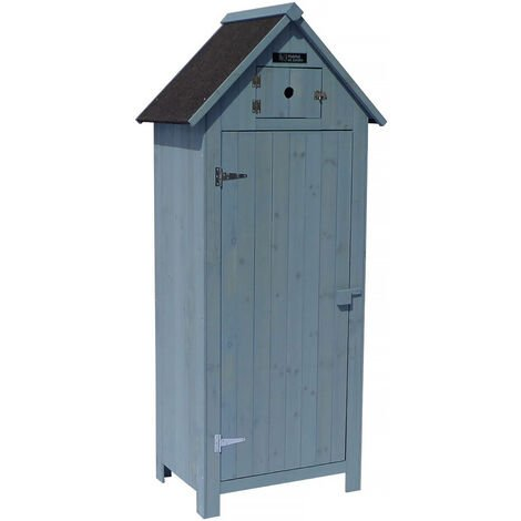 Armadio da giardino CABANON - 77 x 54.5 x 179 cm - Azzurro