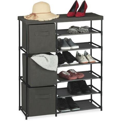 Basics con asta appendiabiti Organizer a scomparti da appendere nell/'armadio con 4 ripiani
