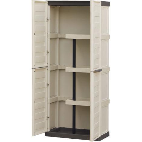 Armadietti Da Esterno Resina.Armadio Mobile Box Ps In Resina Tortora Portascope Da Esterno Giardino Balcone