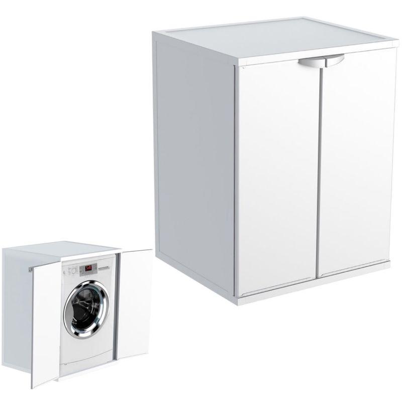 Armadio Per Lavatrice Da Esterno.Armadio Mobile Con Ante Coprilavatrice Asciugatrice Da Interno Ed Esterno