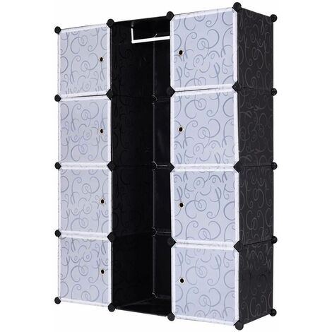 Armadio Modulare 12 Cubi Scaffale Fai Da Te Per Abiti Scarpe In Pp