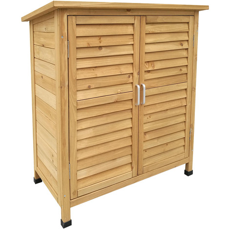 Armadio per esterni a 2 ante in legno d abete 870x465x916 for Armadio per giardino