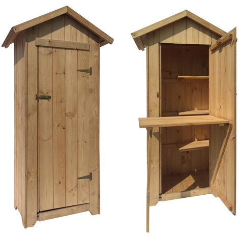 Armadio per esterno in legno di pino massello 16mm cm for Armadio esterno legno