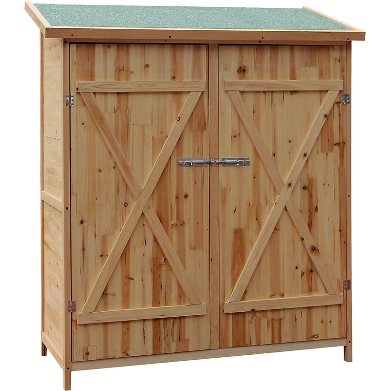 Armadio porta attrezzi xxl in legno casetta ripostiglio for Armadio per giardino