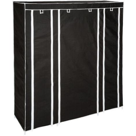 Armario Ameline - armario plegable de acero, armario ropero con estantes para zapatos, mueble multifuncional para dormitorio