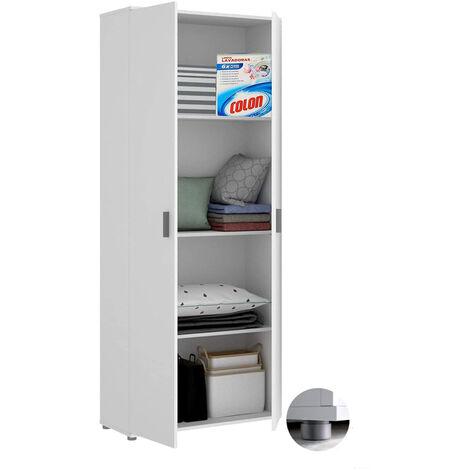 """main image of """"Armario Auxiliar Blanco multiusos 2 puertas 3 estantes, Medidas: alto 190cm. ancho 61cm."""""""